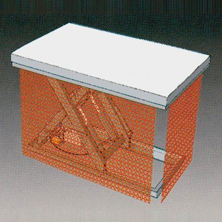 afscherming met metalen gaas voor lifttafels preventie statech