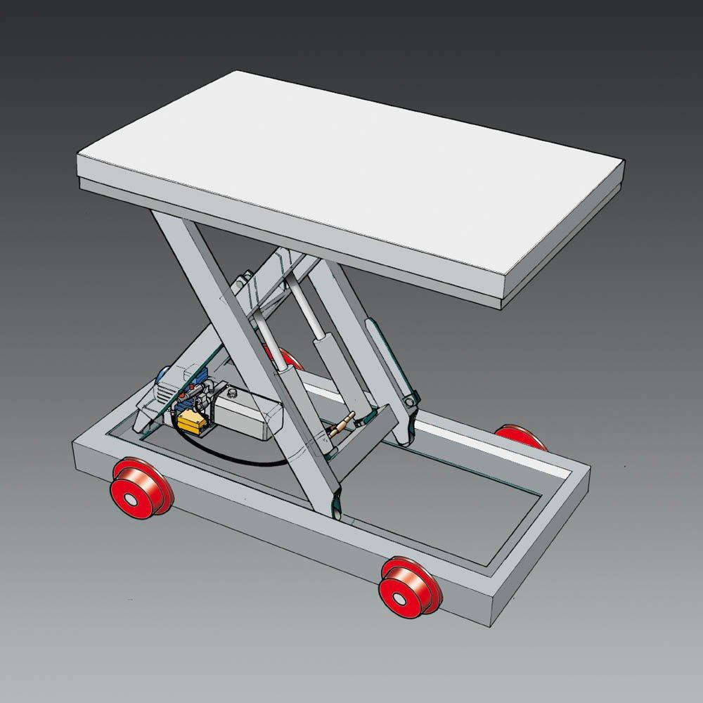onderstel met flenswielen chassis op spoorwielen railwagen voor schaartafels statech
