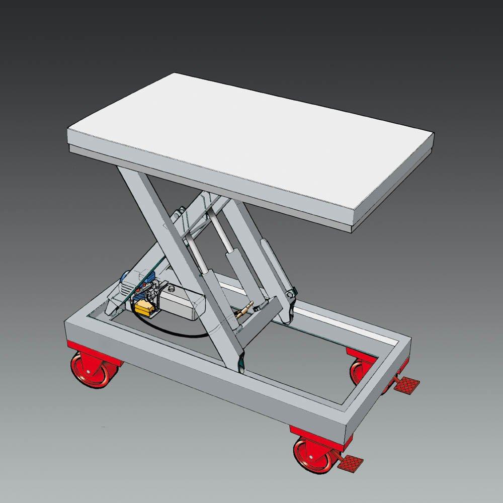 rolwagen chassis op wielen rolwagen voor lifttafel statech