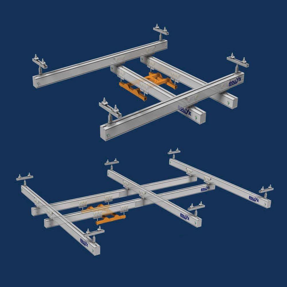 dubbele en drievoudige aluminium rails rollyx om zware ladingen te verplaatsen statech