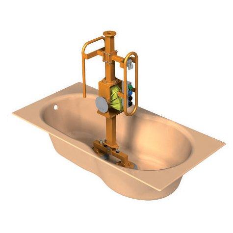 grijper om sanitair te verplaatsen in werkomgeving manipulatiesysteem op maat door statech