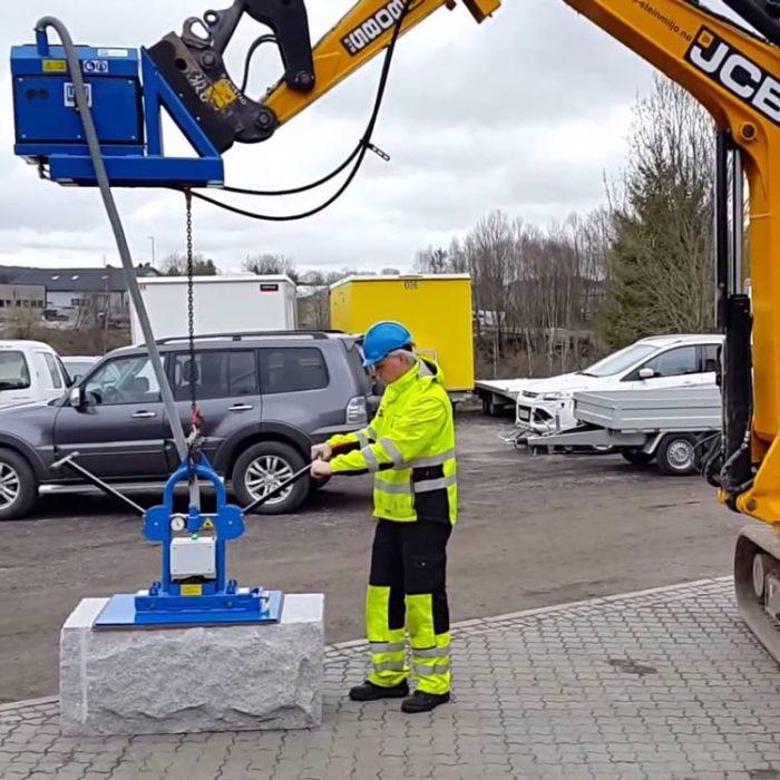 hijsmachine met vacuümpomp betonelementen hijsen Vaculyft SMS 1000 Statech