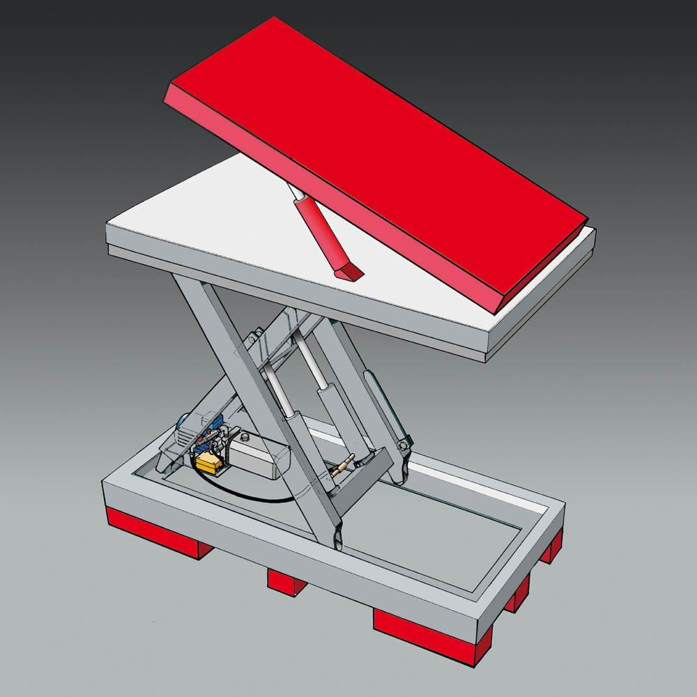 hef- en kantelplatform voor lifttafels statech