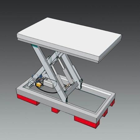 heftruck onderstel onder lifttafel voor handpallettrucks en vorkheftrucks statech