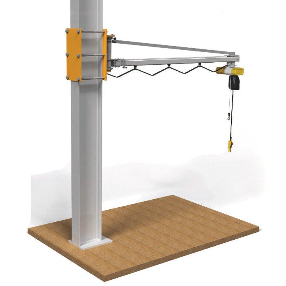 zwenkkraan bevestigd aan bestaande pilaar kolomzwenkkraan maatwerk statech
