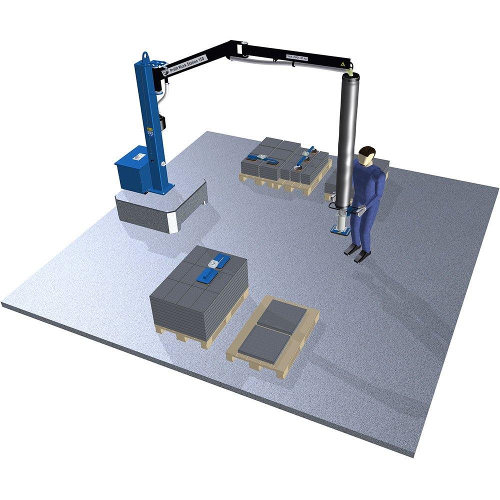 industriële vacuüm hefsystemen manipuleren van tegels en metalen platen maatwerk door statech