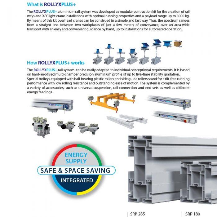 railsysteem met aluminium rails en geïntegreerde energietoevoer rollyxplus+ maatwerk door statech