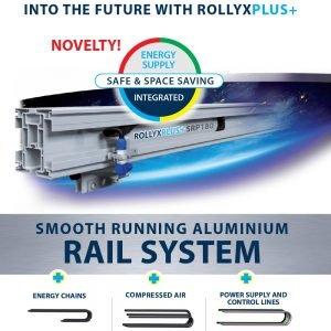 railsysteem met ingebouwde energietoevoer rollyxplus+ statech