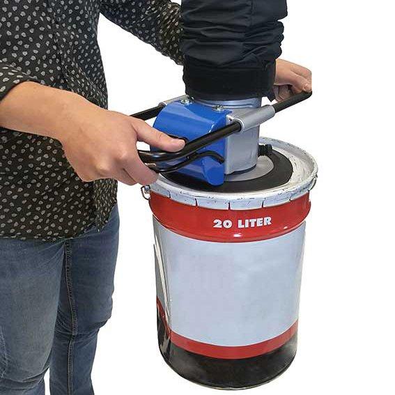 vacuümheffer voor emmers en vaten handling van goederen op ergonomische wijze statech