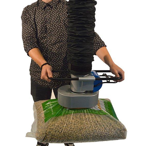 vacuümheffer voor zakken industriële toepassing werkpost hangbaansysteem of zwenkkraan