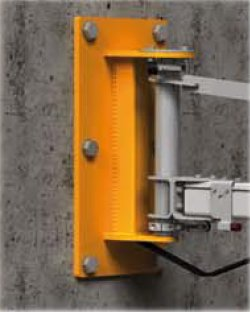 wandzwenkkraan bevestiging aan muur of wand statech