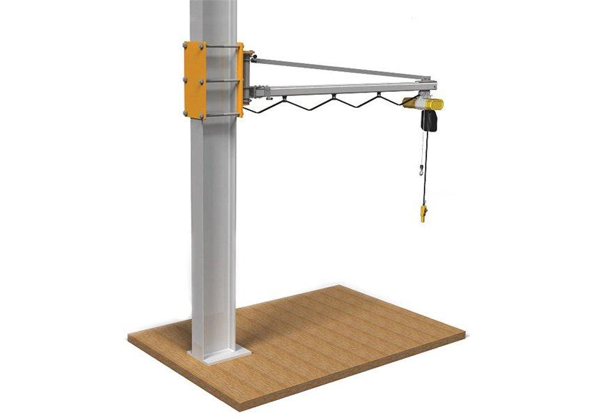 wandzwenkkranen elektrisch of pneumatisch voor bevestiging aan wand of poutrel maatwerk statech